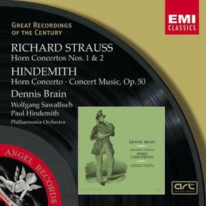 R.Strauss & Hindemith : Horn Concertos etc/Dennis Brain