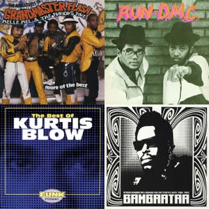 Classic Hip Hop - Kurtis Blow, Grandmaster Flash and The Furious Five, Afrika Bambaataa & The Soul Sonic Force, RUN-DMC, Utfo, Roxanne Shante, Ceto Javu, Eric B. & Rakim