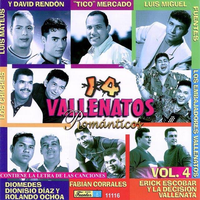 14 Vallenatos Romanticos Volume 4