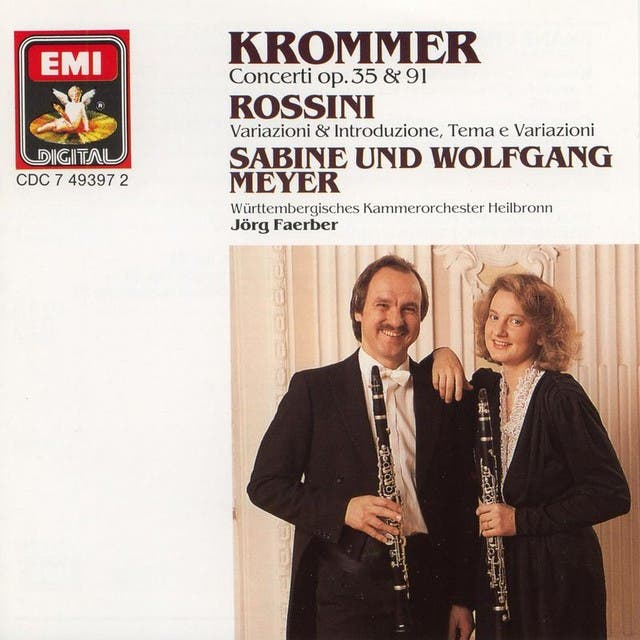 Krommer: Concertos For 2 Clarinets And Orchestra Op.35 & Op.91 / Rossini: Variations