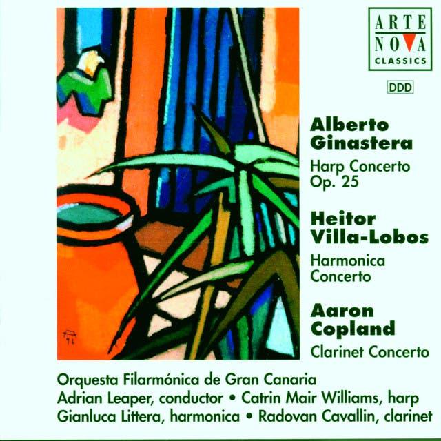 Ginastera/Villa-Lobos/Copland: Harp/Harmonica/Clarinet Cto.